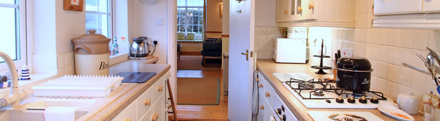 Self catering cottage kitchen