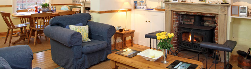 Holiday cottage sitting room